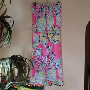 Lilly Pulitzer wide leg pants floral pattern